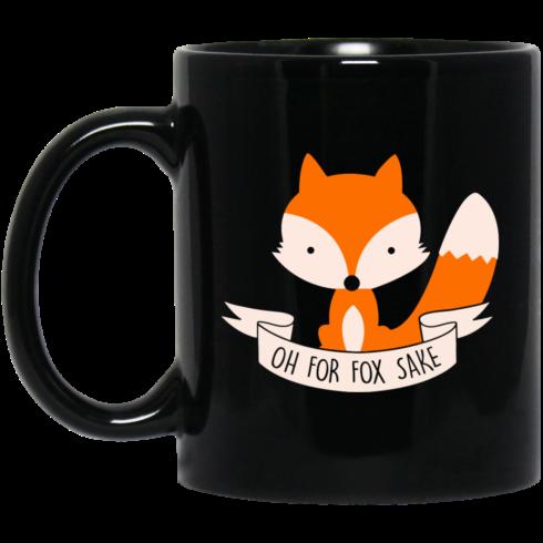 image 101 490x490px Oh For Fox Sake Coffee Black Mug