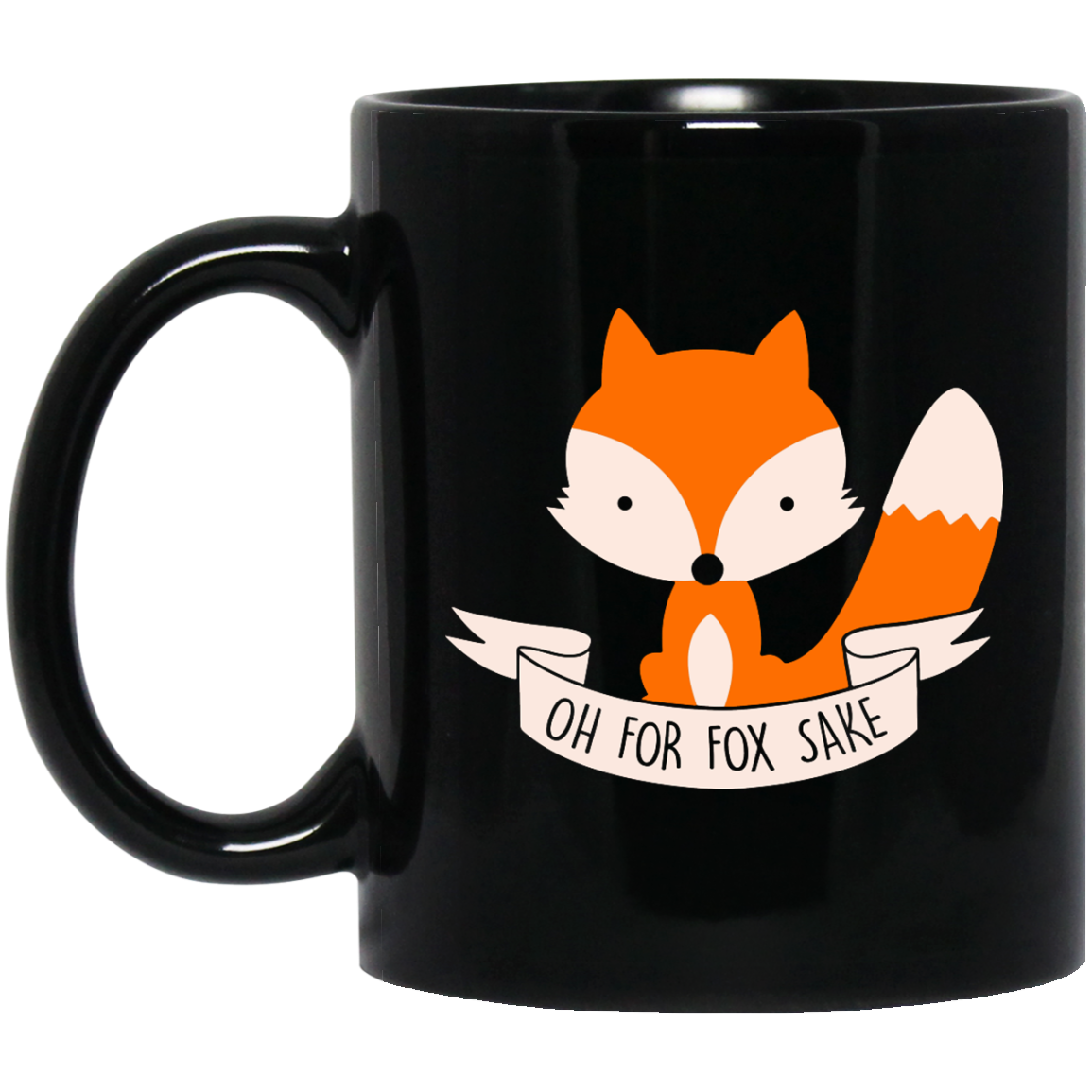 image 101px Oh For Fox Sake Coffee Black Mug