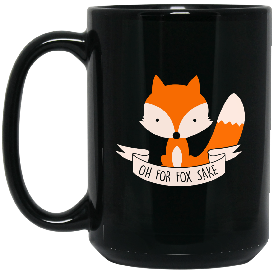 image 102px Oh For Fox Sake Coffee Black Mug