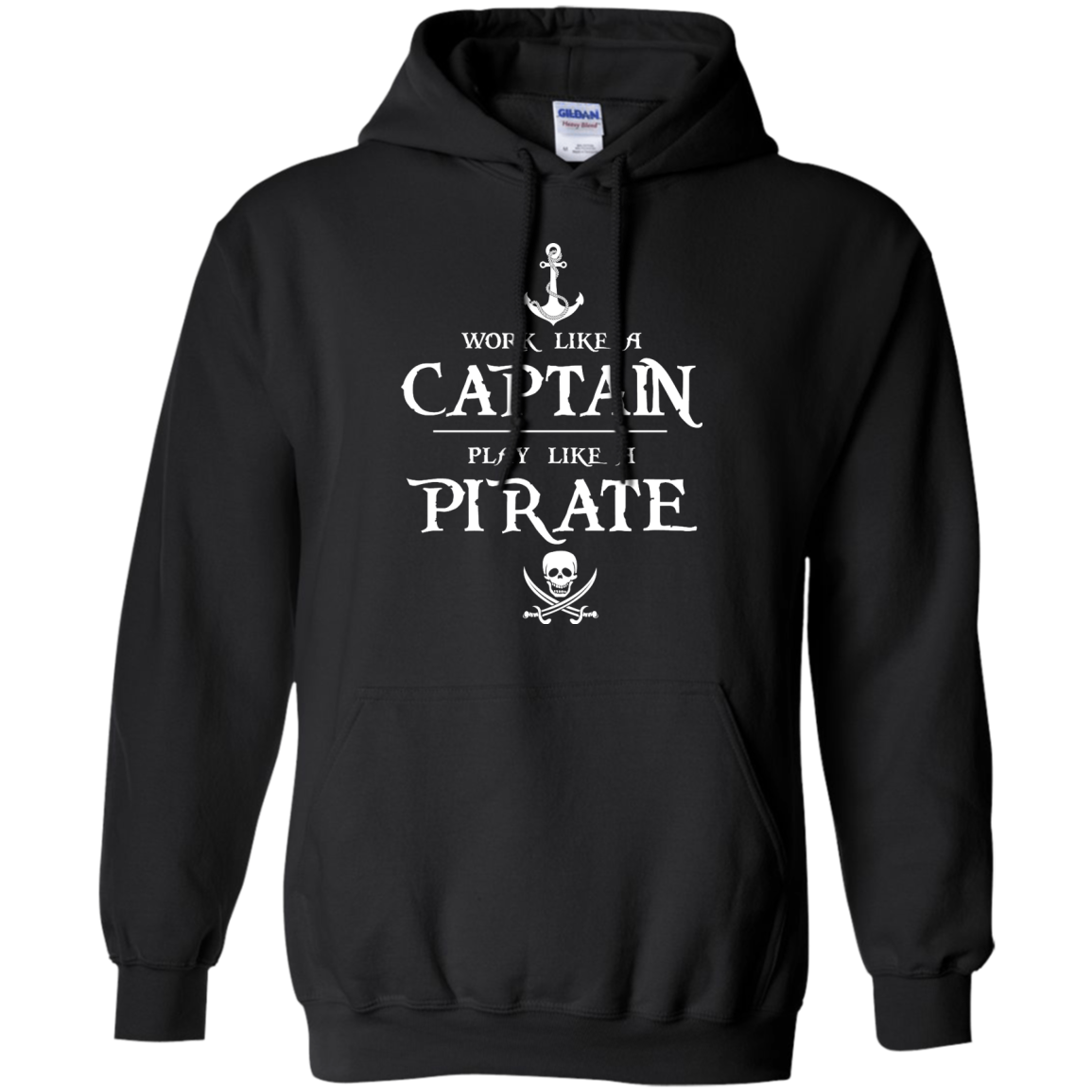 image 141px Work Like A Captain Play Like A Pirate T Shirts, Hoodies, Sweater