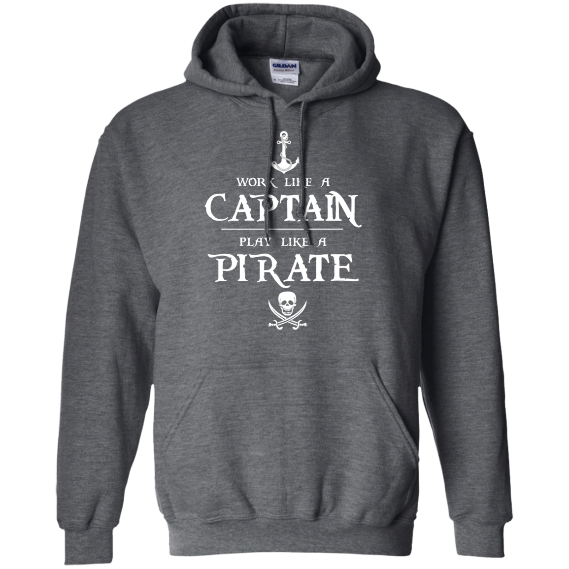 image 142px Work Like A Captain Play Like A Pirate T Shirts, Hoodies, Sweater