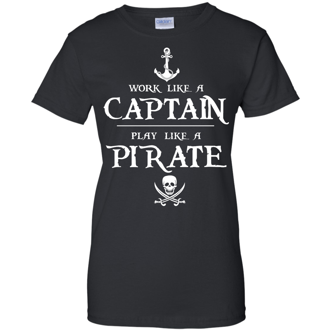 image 145px Work Like A Captain Play Like A Pirate T Shirts, Hoodies, Sweater