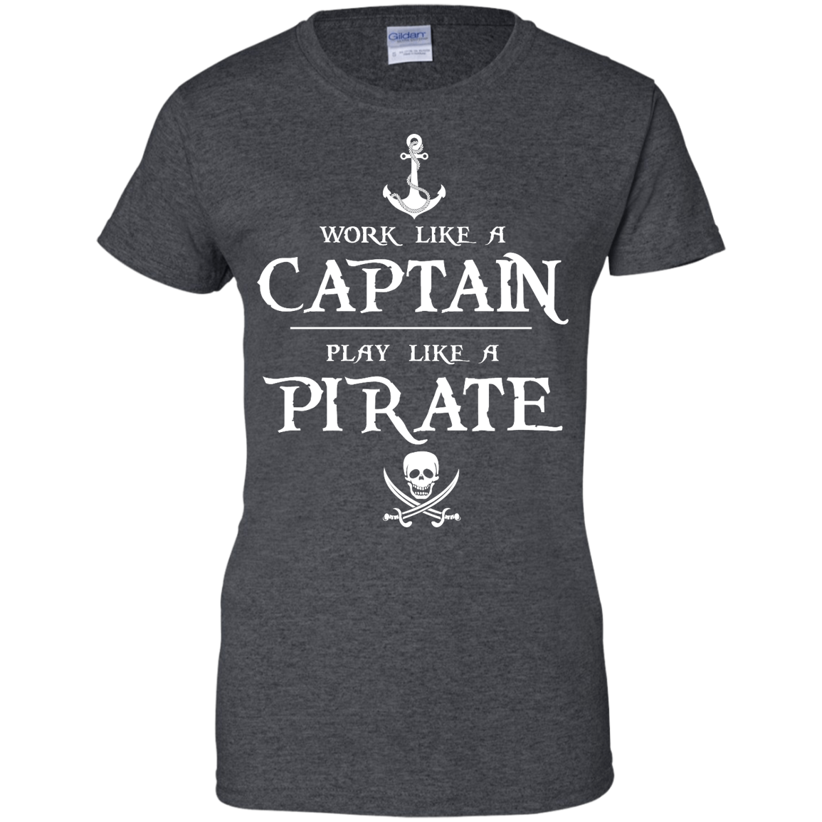 image 146px Work Like A Captain Play Like A Pirate T Shirts, Hoodies, Sweater