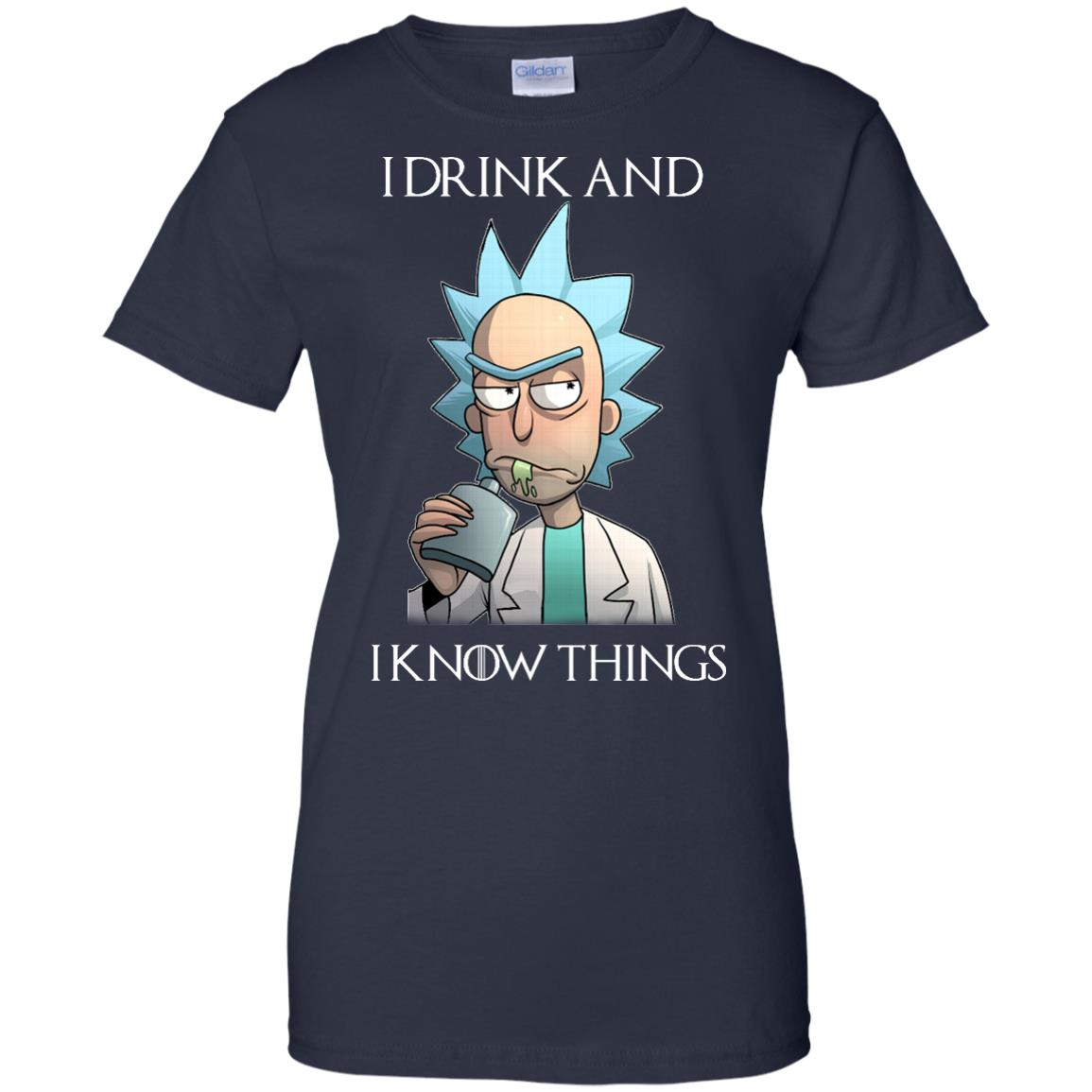 image 159px Rick and Morty I Drink and I Know Things T Shirts, Hoodies, Tank Top
