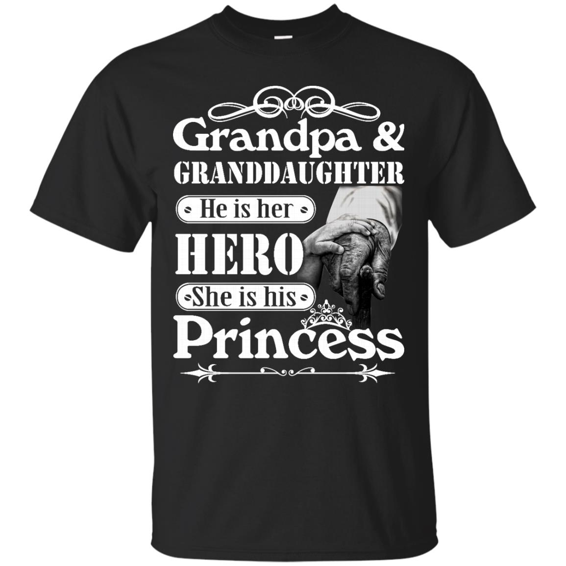image 160px Grandpa and Granddaughter He Is Her Hero She Is His Princess T Shirts, Hoodies, Tank