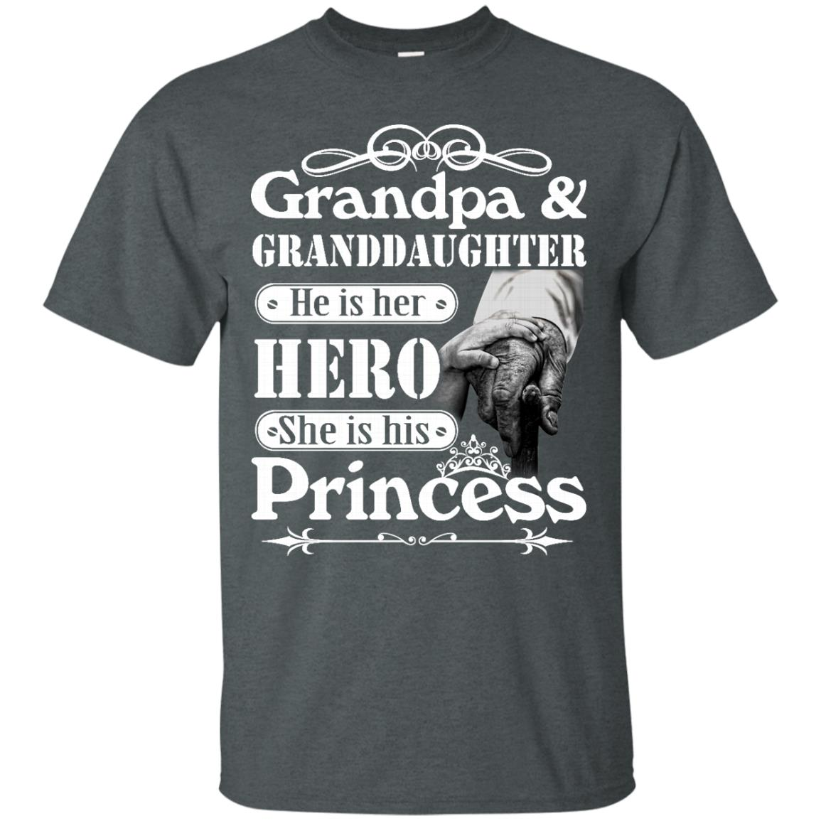 image 161px Grandpa and Granddaughter He Is Her Hero She Is His Princess T Shirts, Hoodies, Tank