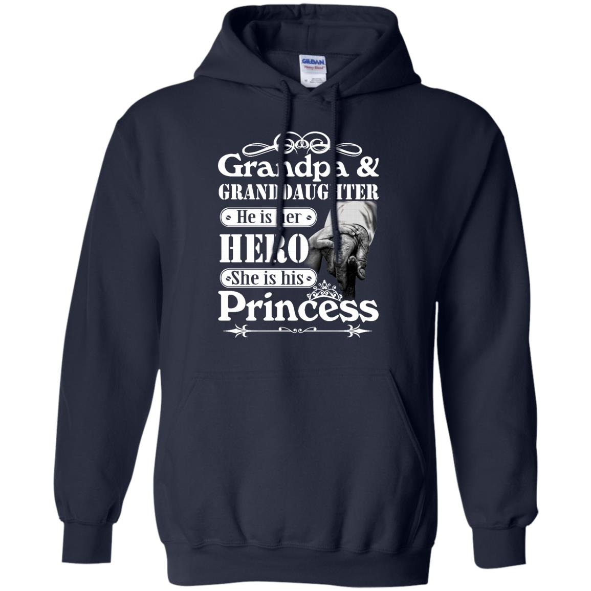 image 166px Grandpa and Granddaughter He Is Her Hero She Is His Princess T Shirts, Hoodies, Tank