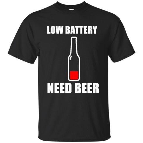 image 182 490x490px Low Battery Need Beer T Shirts, Hoodies, Tank Top