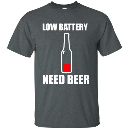 image 183 490x490px Low Battery Need Beer T Shirts, Hoodies, Tank Top