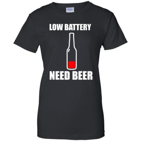 image 190 490x490px Low Battery Need Beer T Shirts, Hoodies, Tank Top
