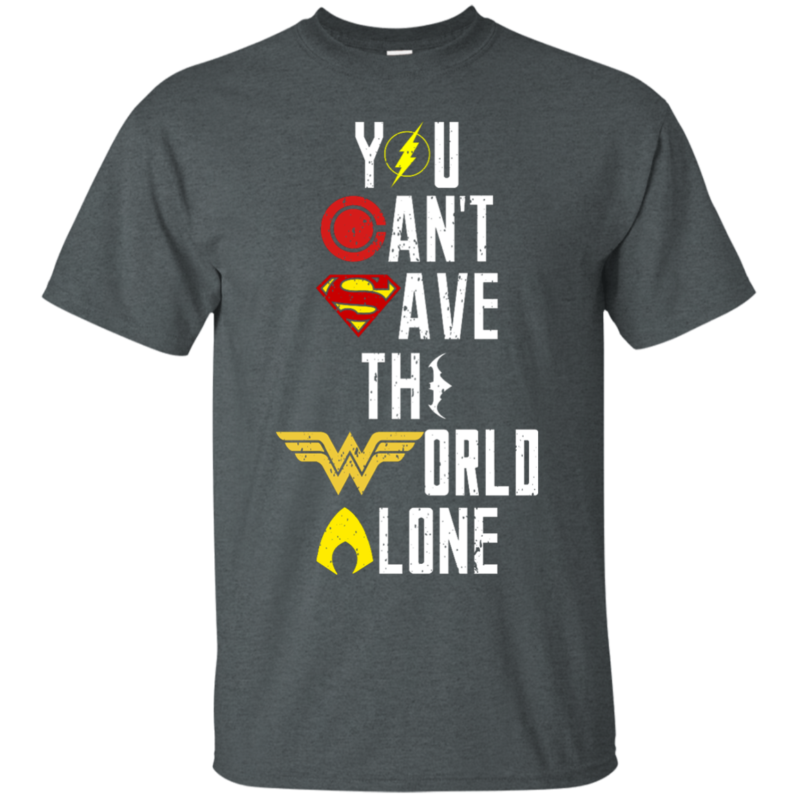 image 24px Justice League: You Can Save The World A Lone T Shirts, Hoodies, Sweaters