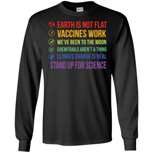 image 241 490x490px Earth Is Not Flat Vaccines Work We've Been To The Moon T Shirts, Hoodies