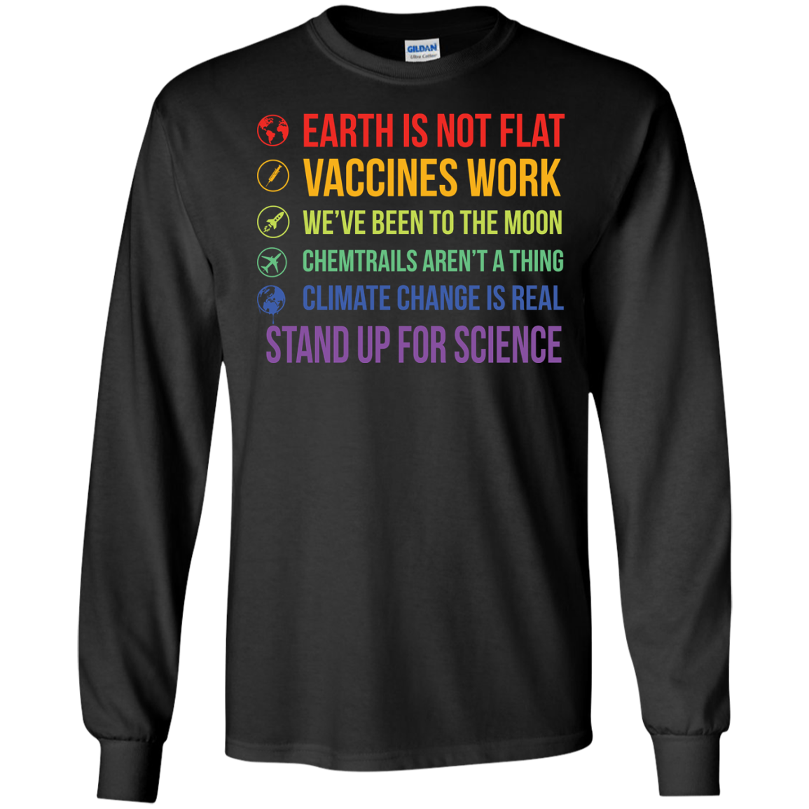 image 241px Earth Is Not Flat Vaccines Work We've Been To The Moon T Shirts, Hoodies