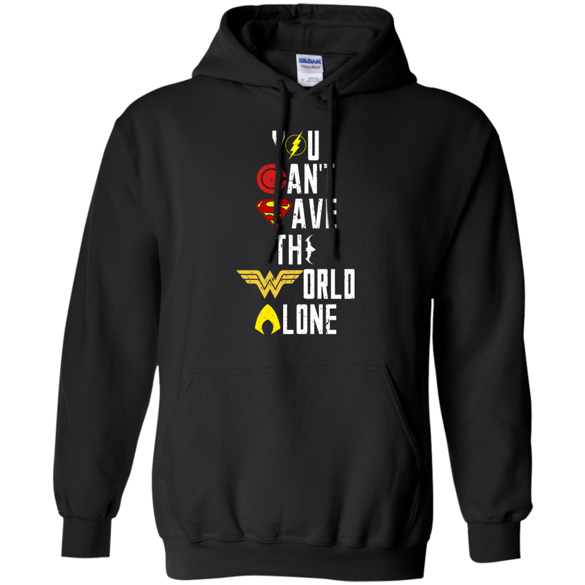 image 26px Justice League: You Can Save The World A Lone T Shirts, Hoodies, Sweaters
