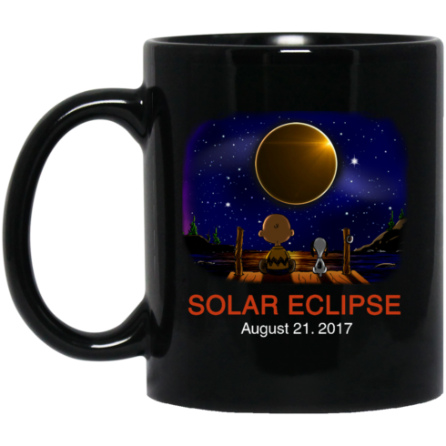 image 268 490x490px Total Solar Eclipse August 21 2017 – Snoopy And Charlie Brown Coffee Mug