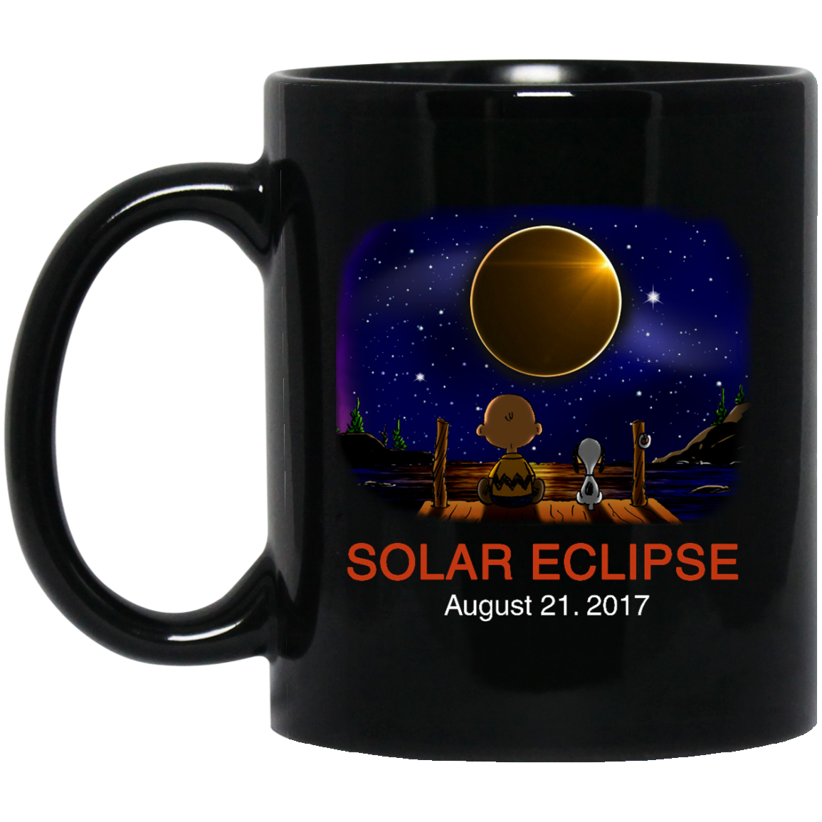 image 268px Total Solar Eclipse August 21 2017 – Snoopy And Charlie Brown Coffee Mug
