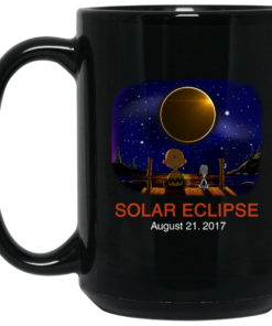 image 269 247x296px Total Solar Eclipse August 21 2017 – Snoopy And Charlie Brown Coffee Mug