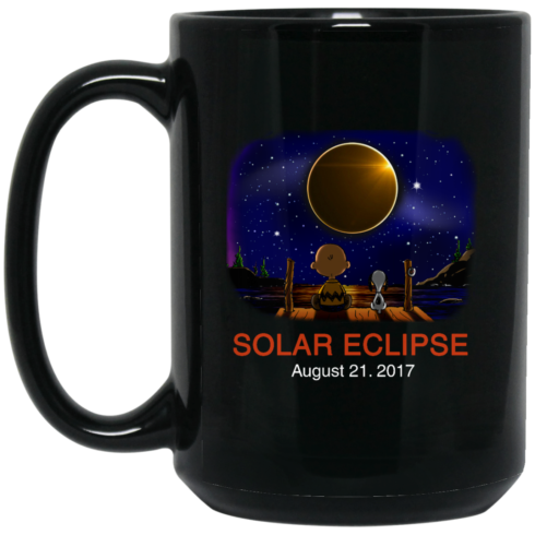 image 269 490x490px Total Solar Eclipse August 21 2017 – Snoopy And Charlie Brown Coffee Mug