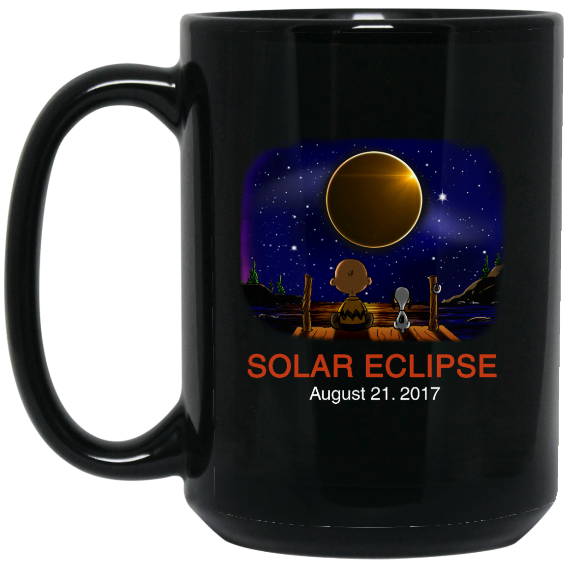 image 269px Total Solar Eclipse August 21 2017 – Snoopy And Charlie Brown Coffee Mug