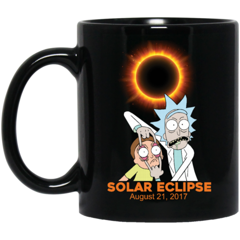 image 274 490x490px Rick and Morty Total Solar Eclipse August 21 2017 Coffee Mug