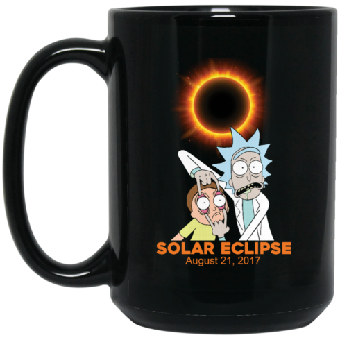 image 275 490x490px Rick and Morty Total Solar Eclipse August 21 2017 Coffee Mug