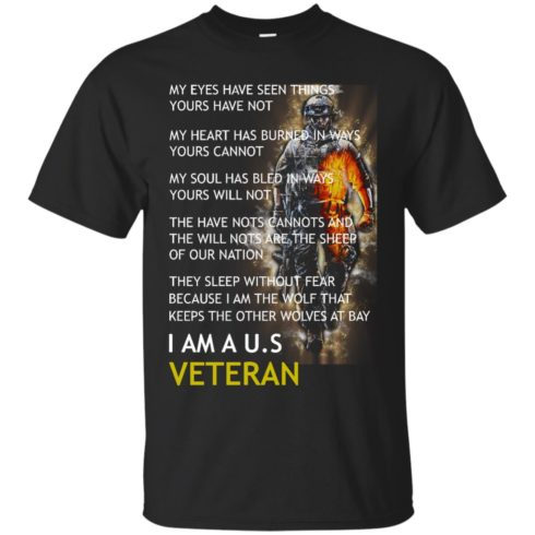 image 303 490x490px I Am A US Veteran My Eyes Have Seen Things Yours Have Not T Shirts, Hoodies