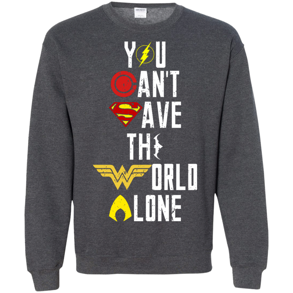image 31px Justice League: You Can Save The World A Lone T Shirts, Hoodies, Sweaters