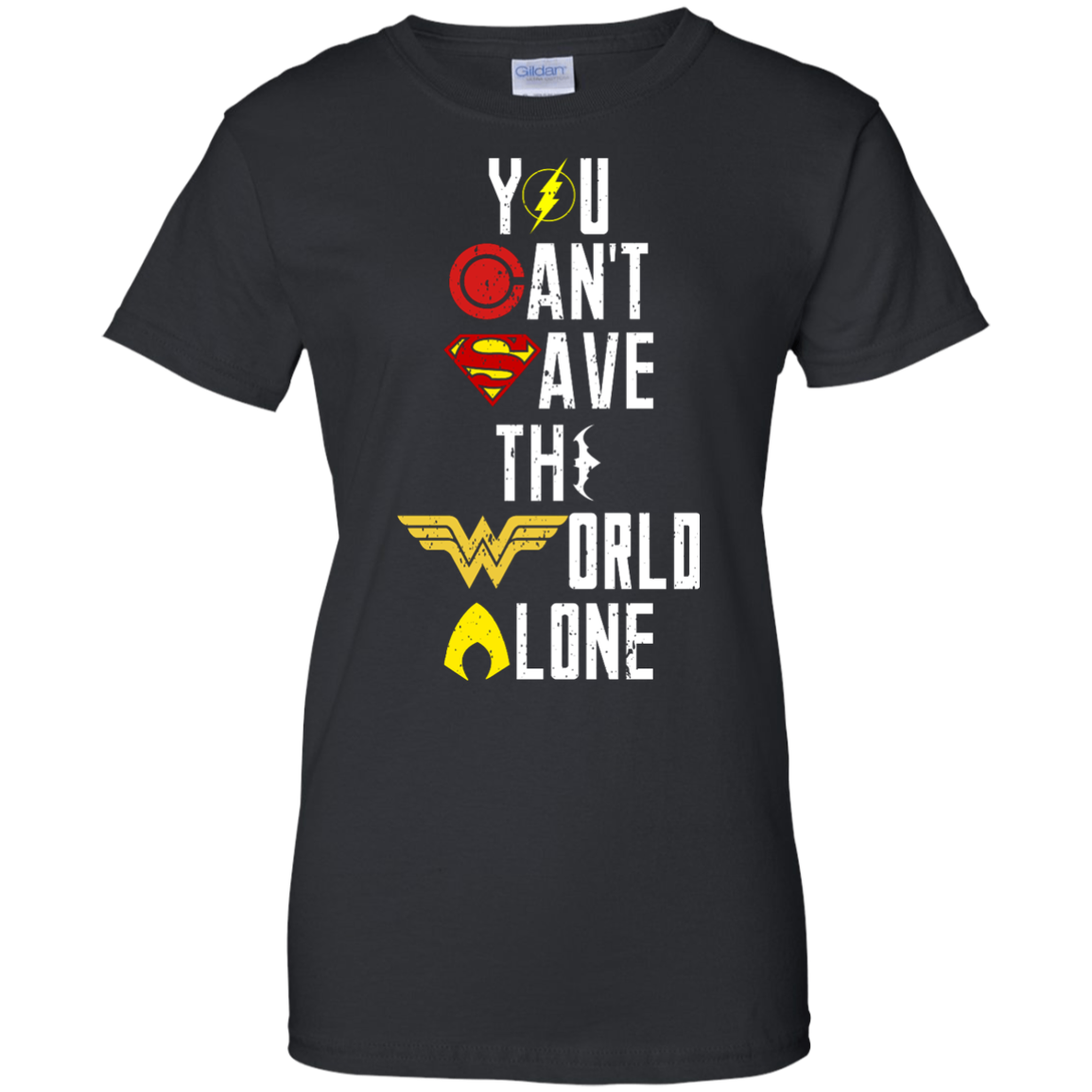 image 32px Justice League: You Can Save The World A Lone T Shirts, Hoodies, Sweaters