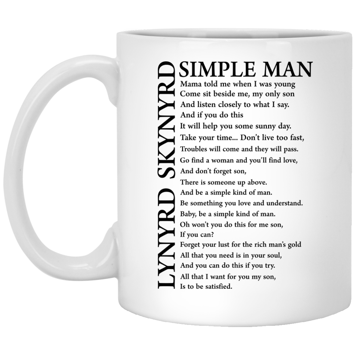 Lynyrd Skynyrd Simple Man Coffee Mug