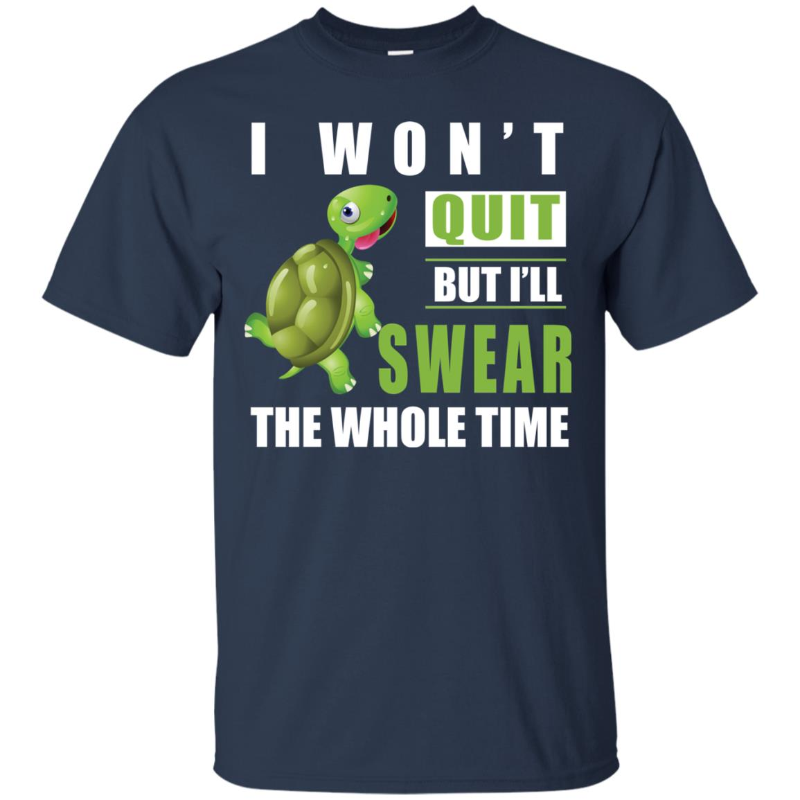 image 338px Running Turtle Shirt: I Won't Quit But I'll Swear The Whole Time T Shirts, Hoodies