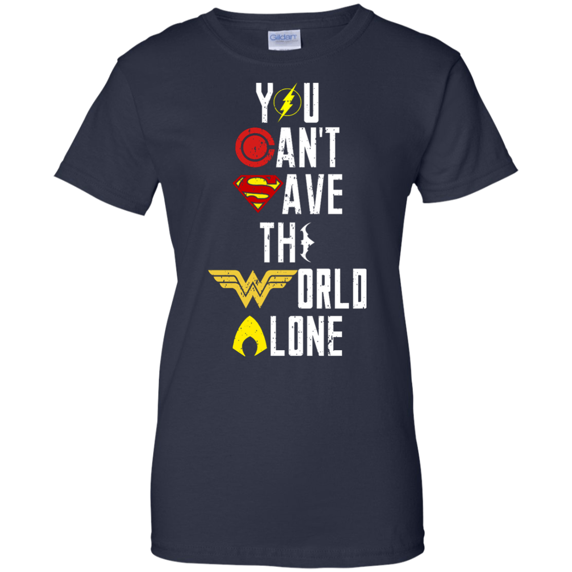 image 34px Justice League: You Can Save The World A Lone T Shirts, Hoodies, Sweaters