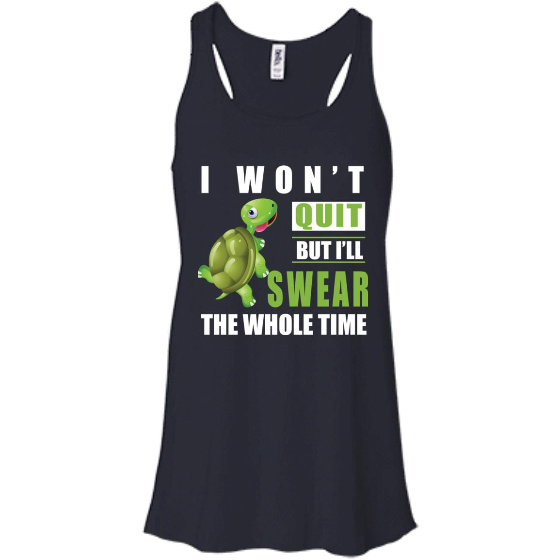 image 340px Running Turtle Shirt: I Won't Quit But I'll Swear The Whole Time T Shirts, Hoodies