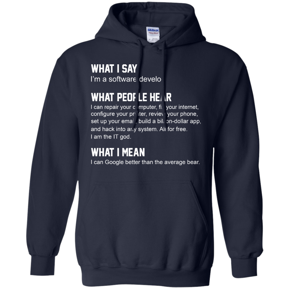 image 341px What People Hear When I Say I'm A Software Developer T Shirts, Hoodies, Tank