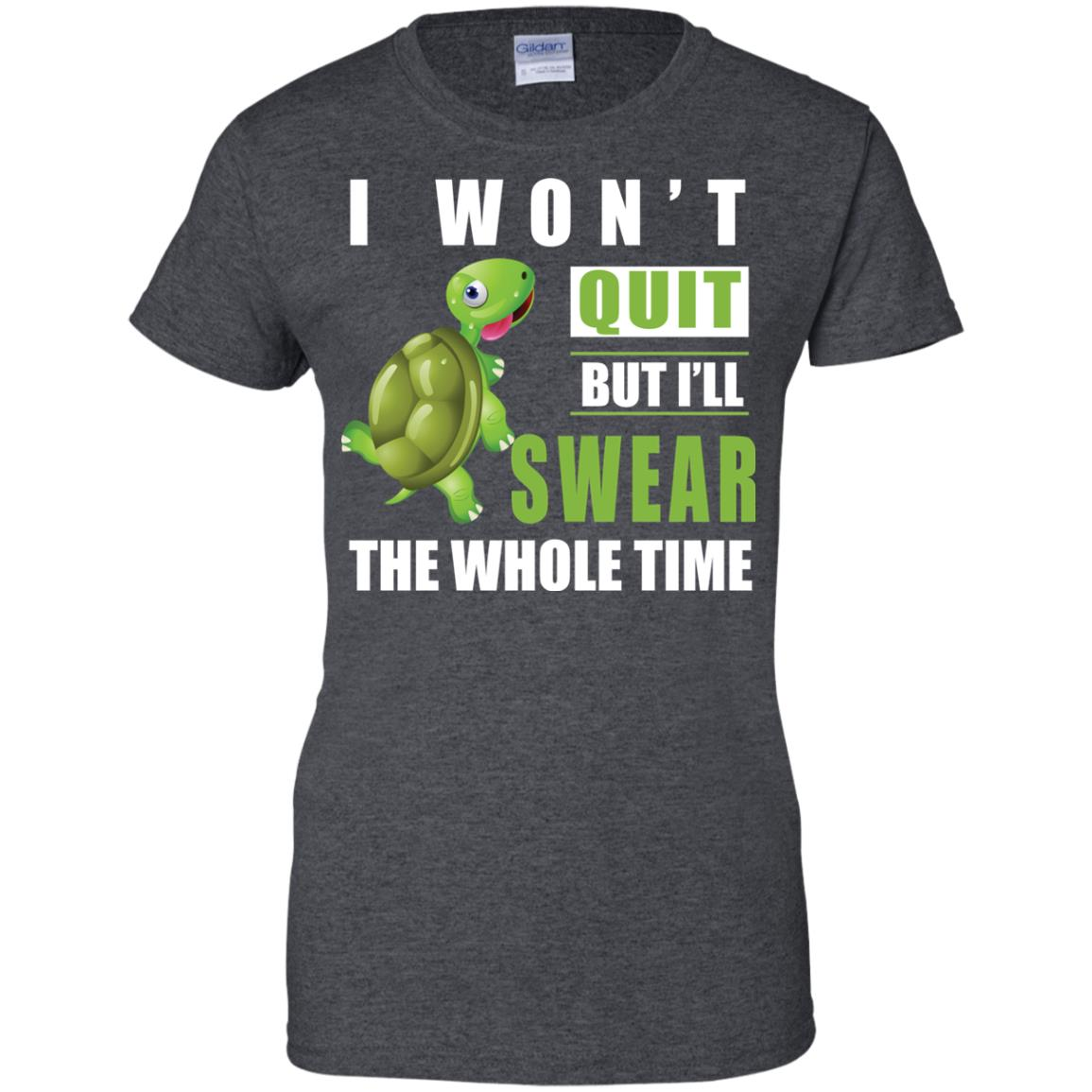 image 345px Running Turtle Shirt: I Won't Quit But I'll Swear The Whole Time T Shirts, Hoodies