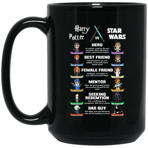 image 361 490x490px Harry Potter vs Star Wars: Hero, Best Friend, Female Friend Coffee Mug