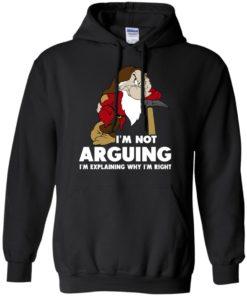 image 374 247x296px I'm Not Arguing I'm Explaining Why I'm Right T Shirts, Hoodies, Tank Top