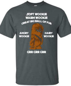 image 39 247x296px Star Wars: Soft Wookie Warm Wookie Great Big Ball Of Fur Angry Wookie Hairy Wookie T Shirts
