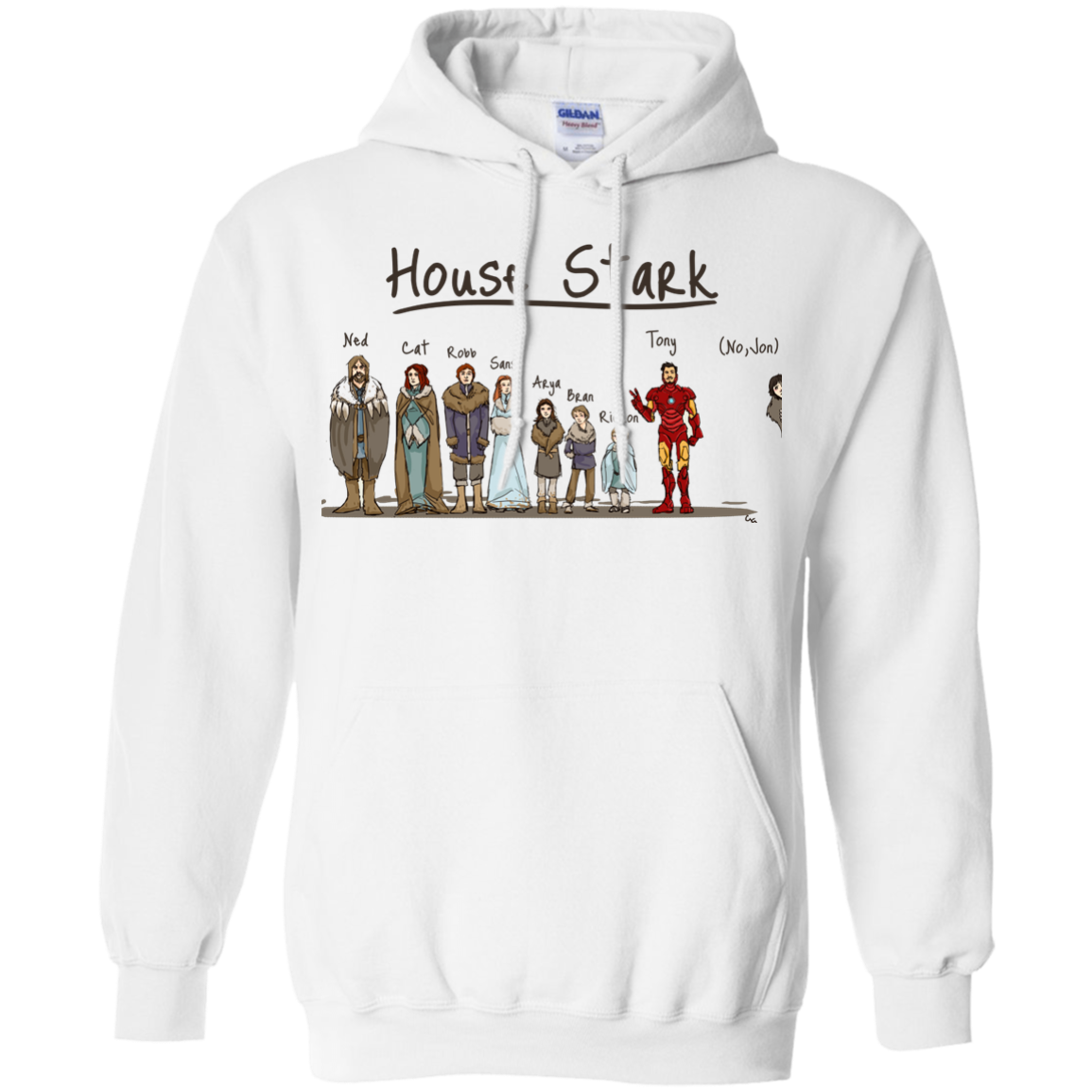 image 390px House Stark and Iron Man T Shirts, Hoodies, Sweater