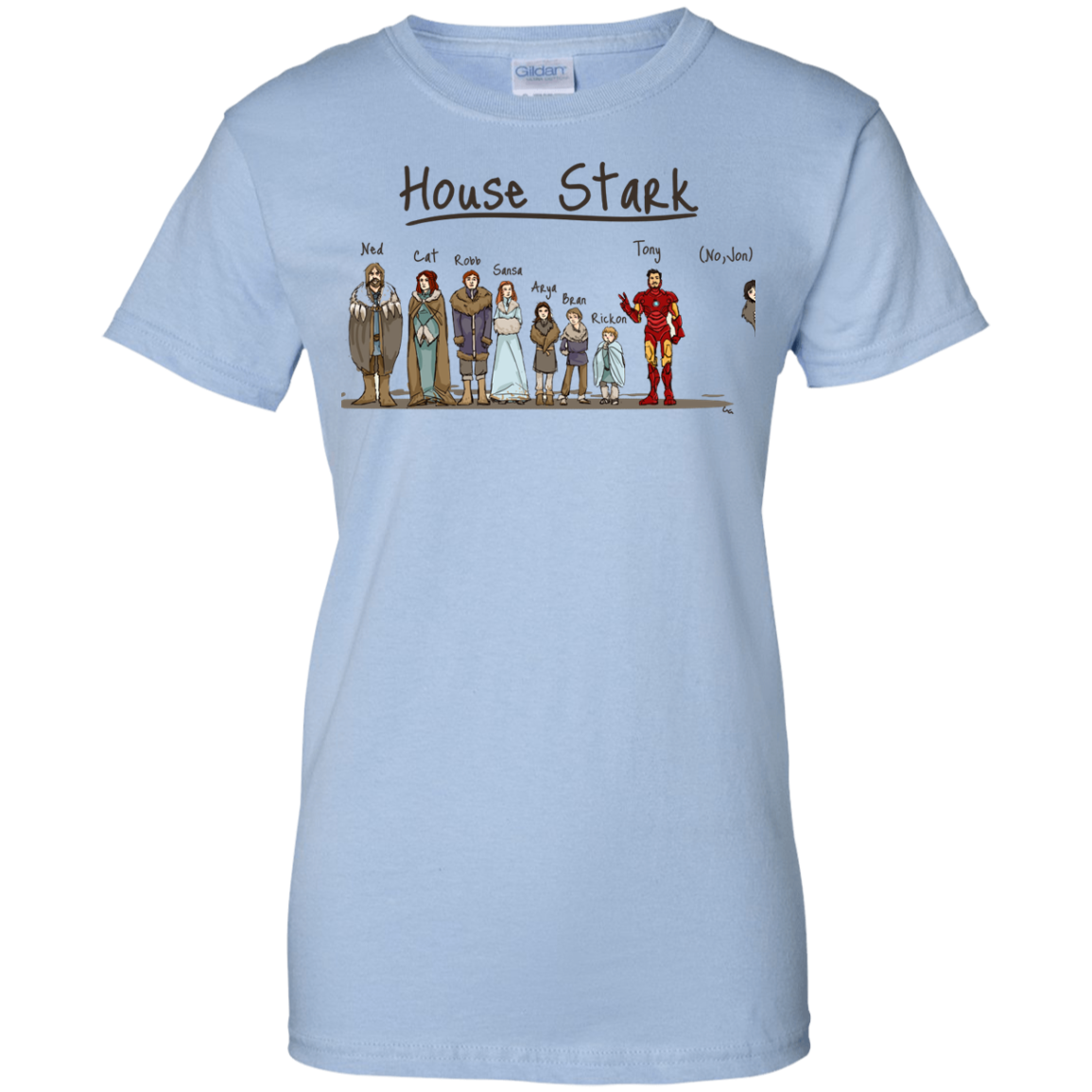 image 397px House Stark and Iron Man T Shirts, Hoodies, Sweater