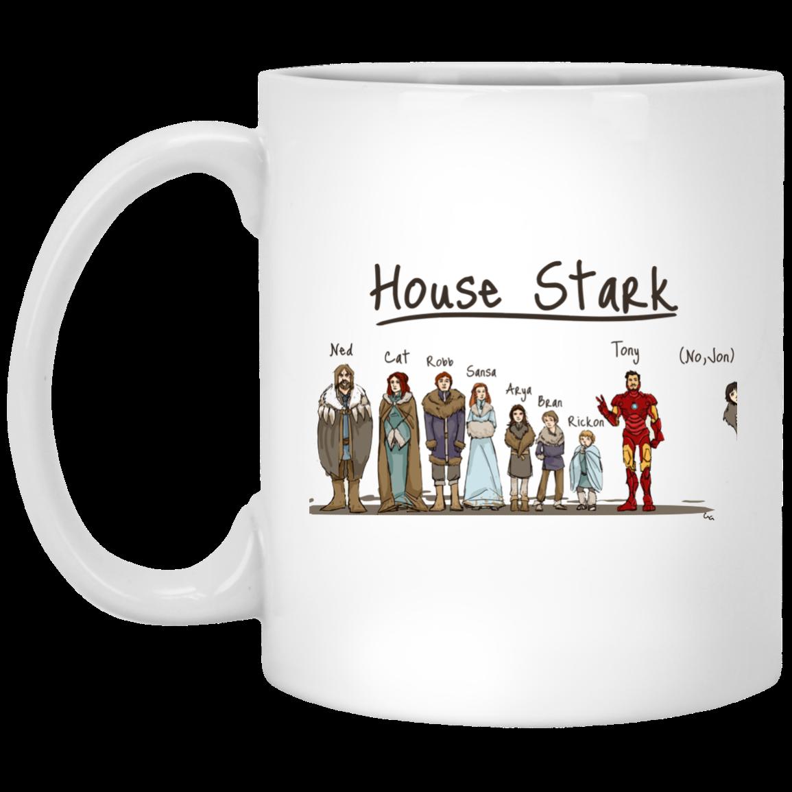 image 398px House Stark and Iron Man Coffee Mug