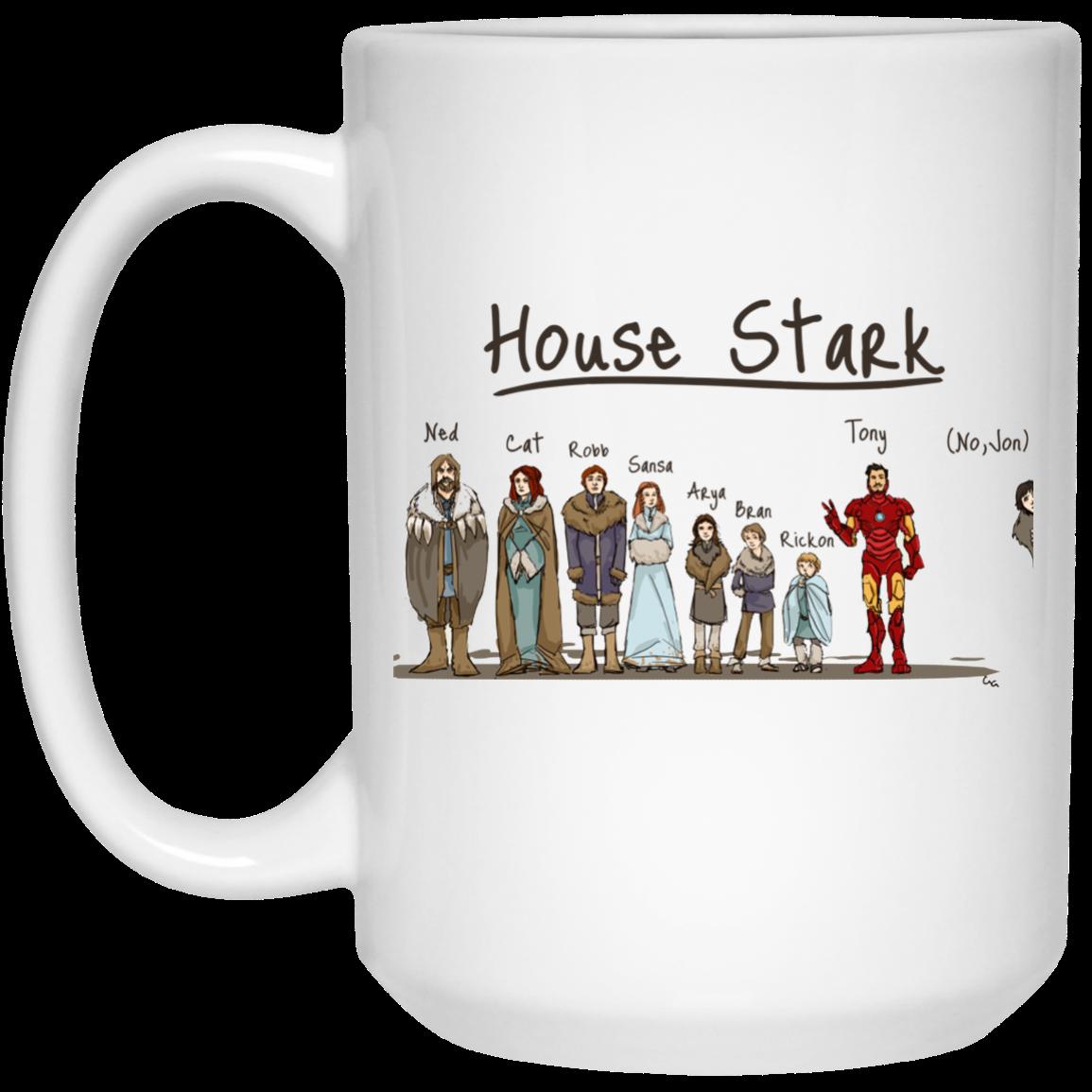 image 399px House Stark and Iron Man Coffee Mug