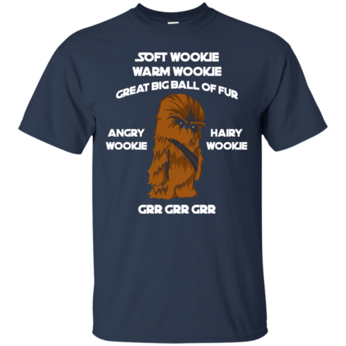 image 40 490x490px Star Wars: Soft Wookie Warm Wookie Great Big Ball Of Fur Angry Wookie Hairy Wookie T Shirts