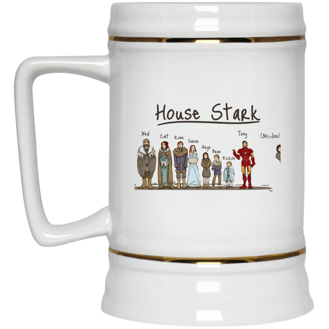 image 400px House Stark and Iron Man Coffee Mug