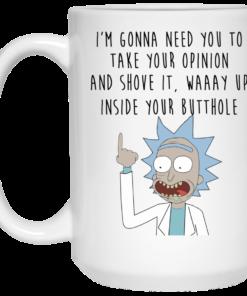 image 402 247x296px Rick and Morty: I'm Gonna Need You To Take Your Opinion Coffee Mug