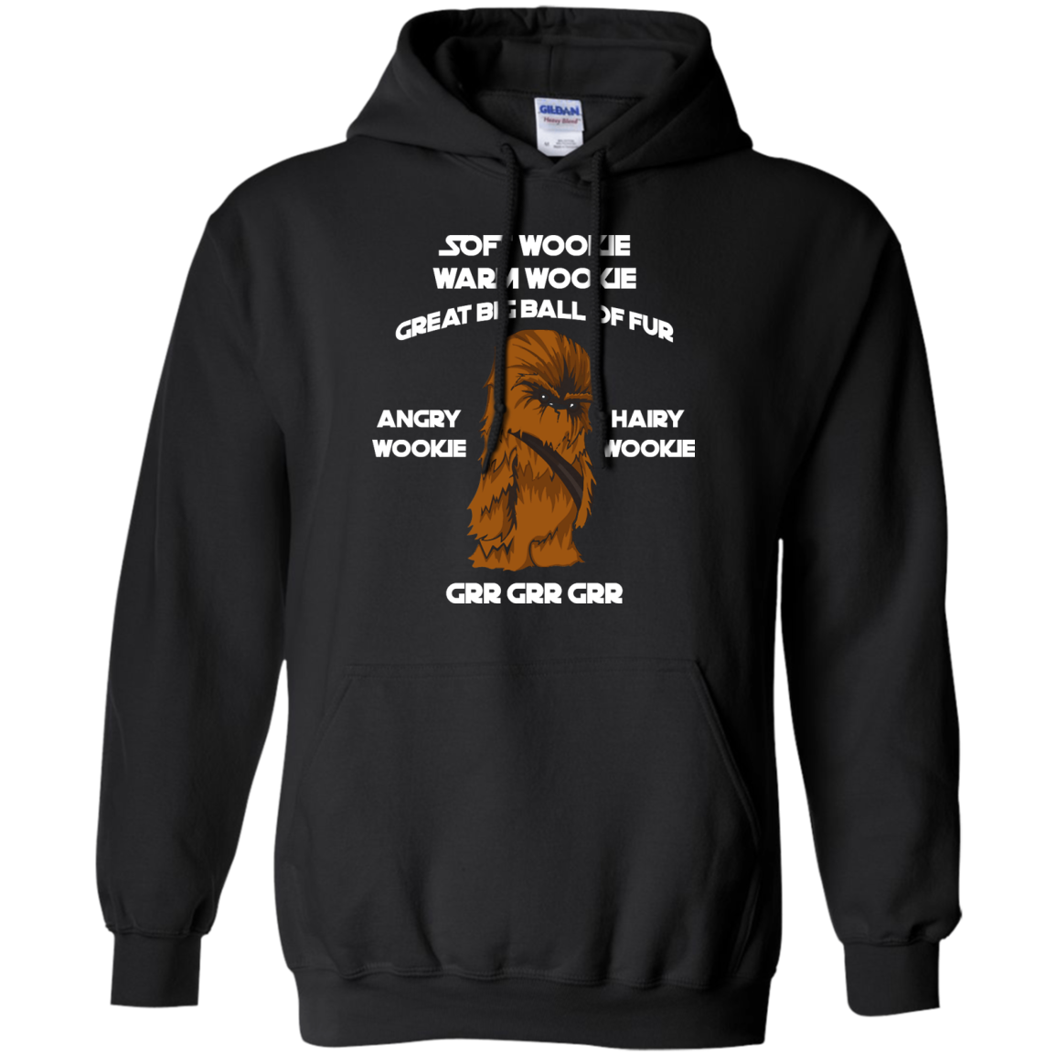 image 41px Star Wars: Soft Wookie Warm Wookie Great Big Ball Of Fur Angry Wookie Hairy Wookie T Shirts