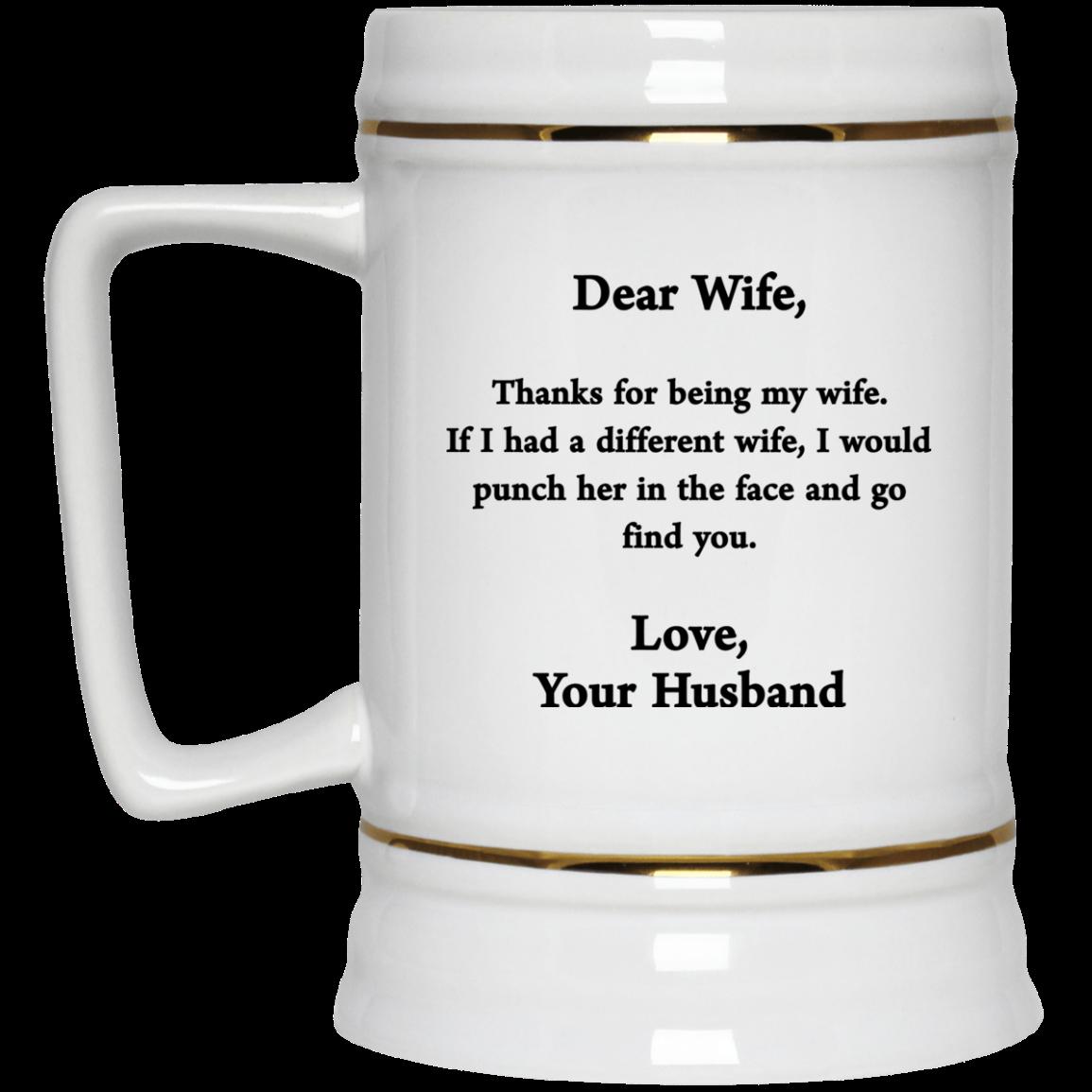 image 417px Dear wife mug thanks for being my wife coffee mug