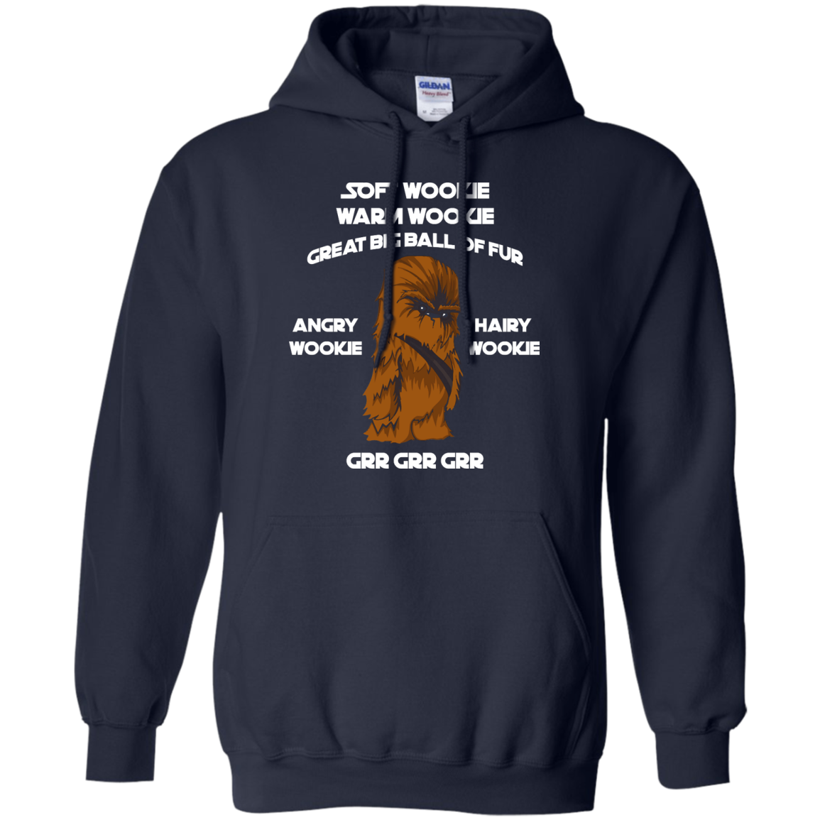 image 42px Star Wars: Soft Wookie Warm Wookie Great Big Ball Of Fur Angry Wookie Hairy Wookie T Shirts