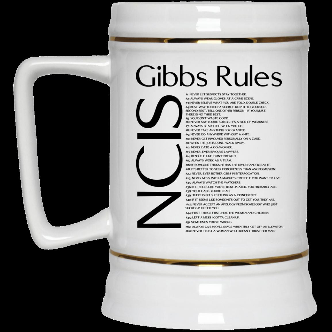 image 423px NCIS Gibbs Rules Coffee Mug
