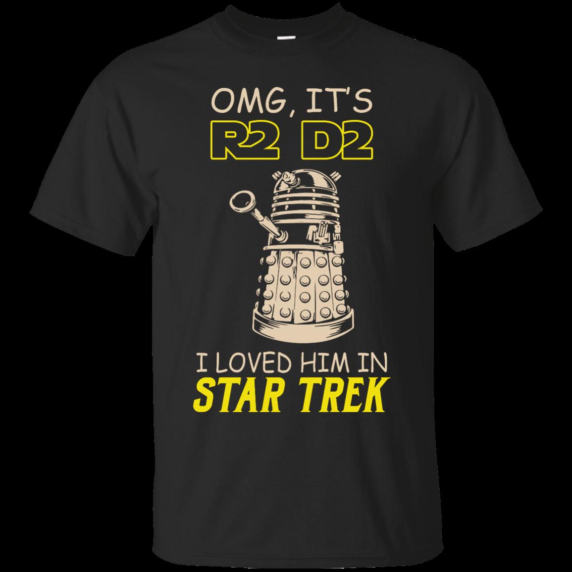 image 435px Omg It's R2 D2 I Loved Him In Star Trek T Shirts, Hoodies, Tank