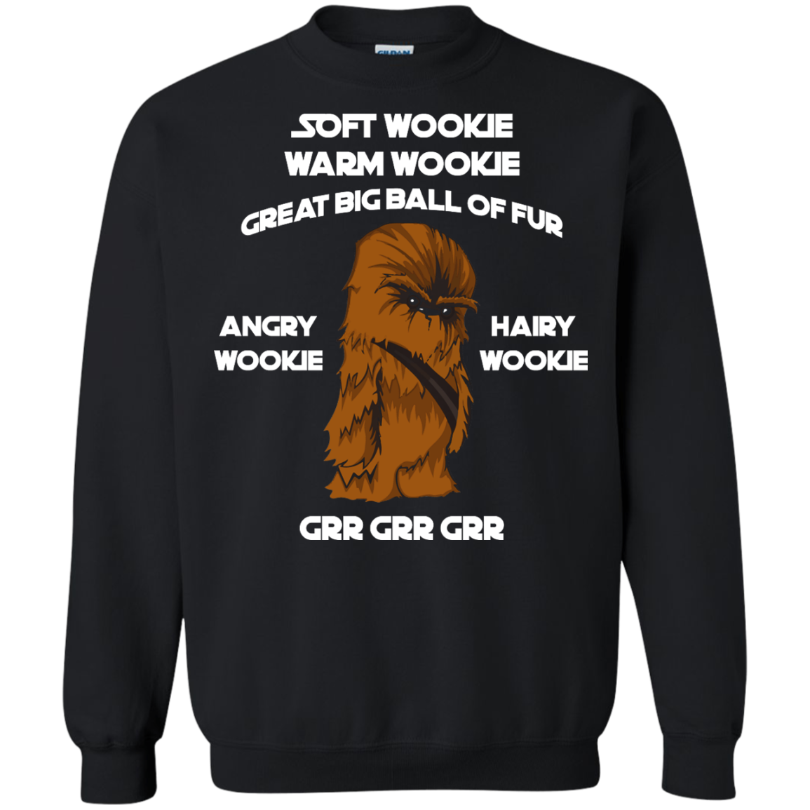 image 44px Star Wars: Soft Wookie Warm Wookie Great Big Ball Of Fur Angry Wookie Hairy Wookie T Shirts